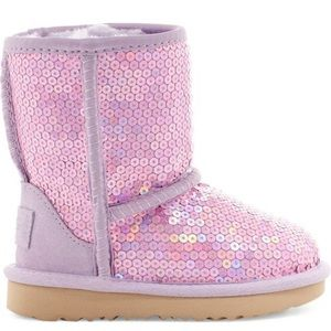 NWT ugg sequin sparkle glitter pink boots